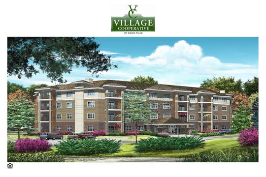 A rendering of the Village Cooperative senior housing development heading to southern Sioux Falls.