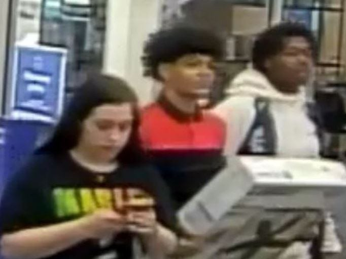 The Sioux Falls Police Department is looking for the public's help in identifying the subject(s) in reference to a theft on April 23, 2019. If you know the subject(s) please contact CrimeStoppers at 367-7007 or call the Sioux Falls Police SFPD CC#19-7099.
