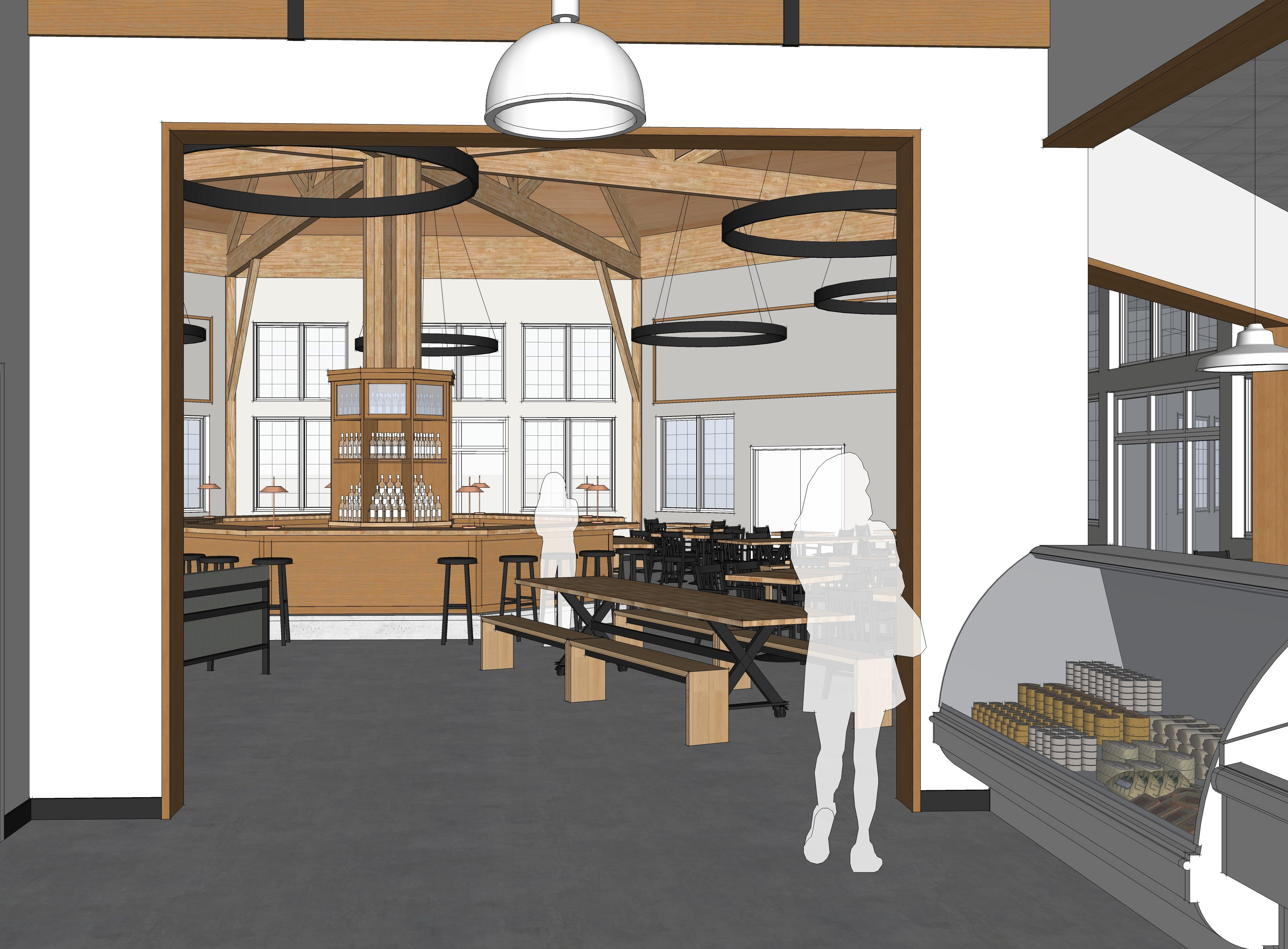 The cheese/deli area is shown in this architect rendering of Look's Market's plans for the former C.J. Callaway's in south Sioux Falls.