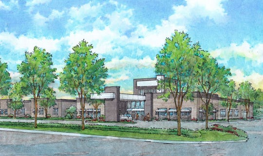A design of Encompass Health's Sioux Falls hospital.