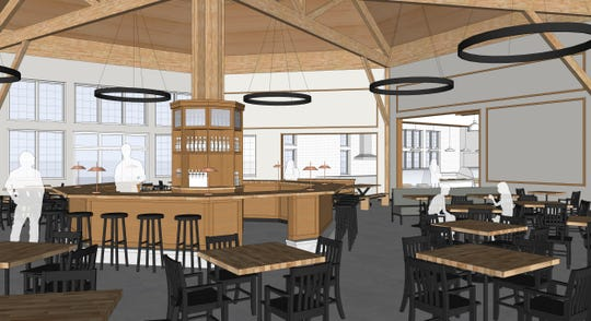 The dining area and the bar, pictured in this architect rendering of Look's Market 's plans for the former C.J. Callaway's in in south Sioux Falls.