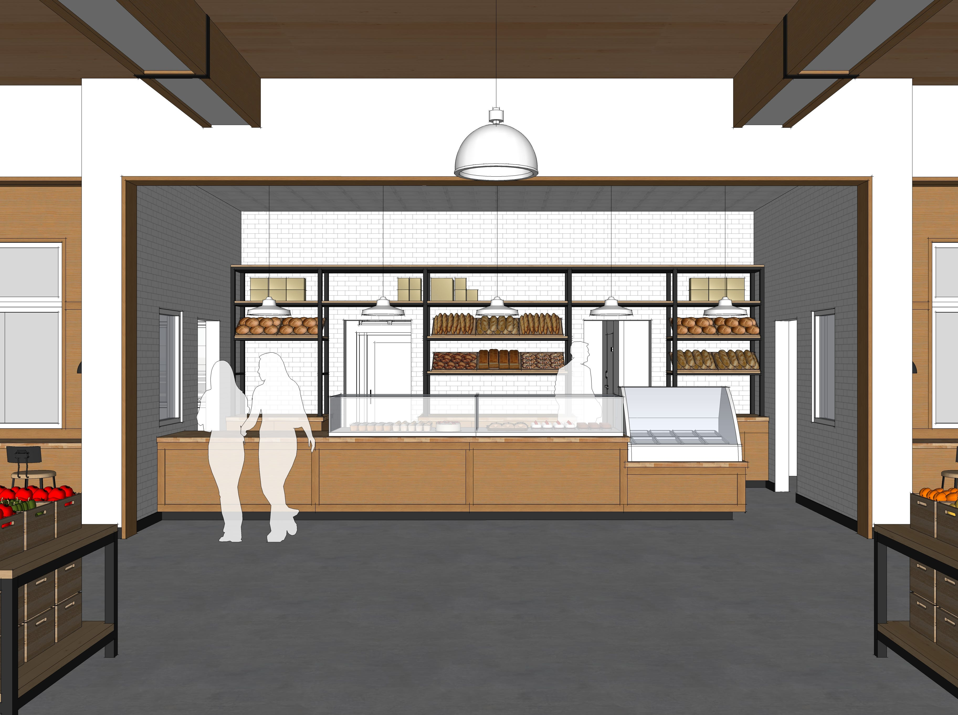 A view of the bakery in this architect rendering of Look's Market's plans for the former C.J. Callaway's in south Sioux Falls.