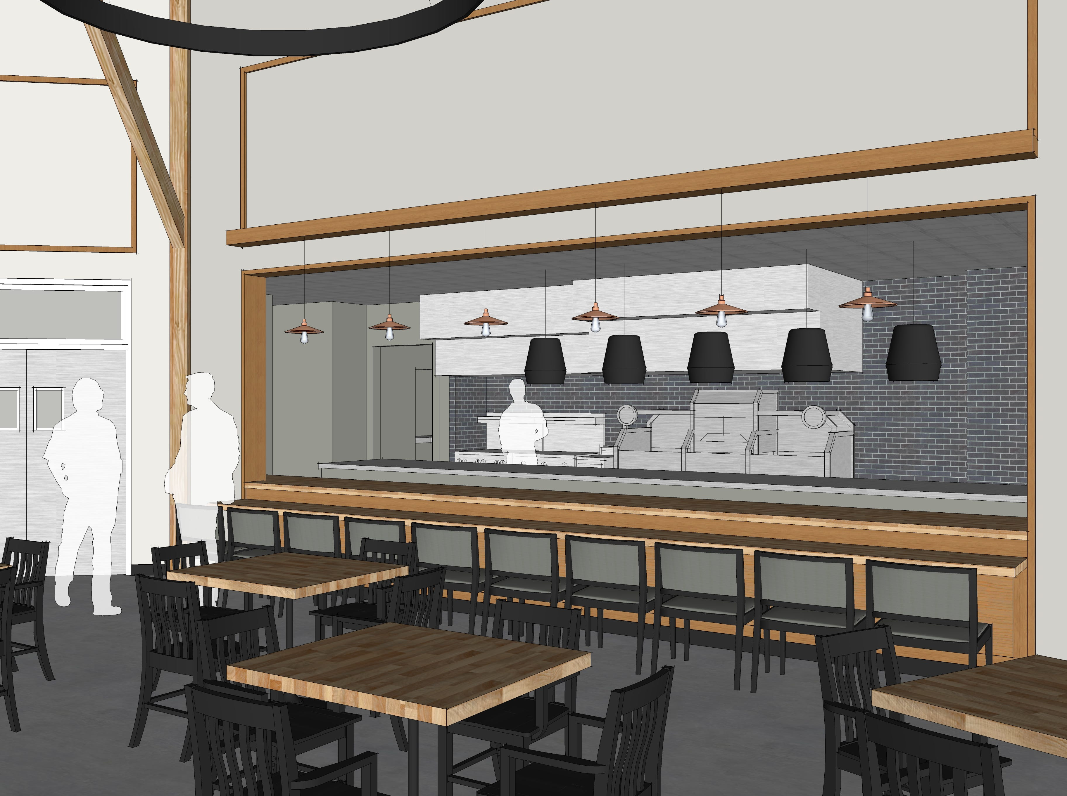 A view of the planned life-fire concept in this architectural rendering of Look's Market's plans for the former C.J. Callaway's in south Sioux Falls.