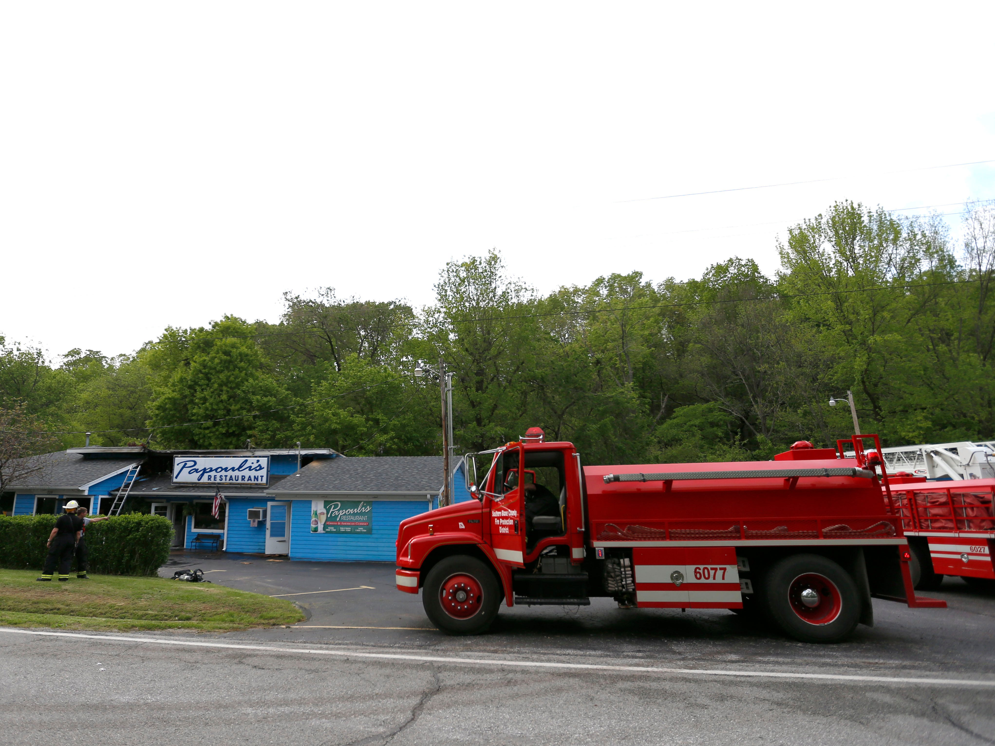 A fire broke out at Papouli's Restaurant shortly after 3 p.m.  on Wednesday, May 1, 2019, moderately damaging the Greek-style establishment beloved by many people across the Ozarks.