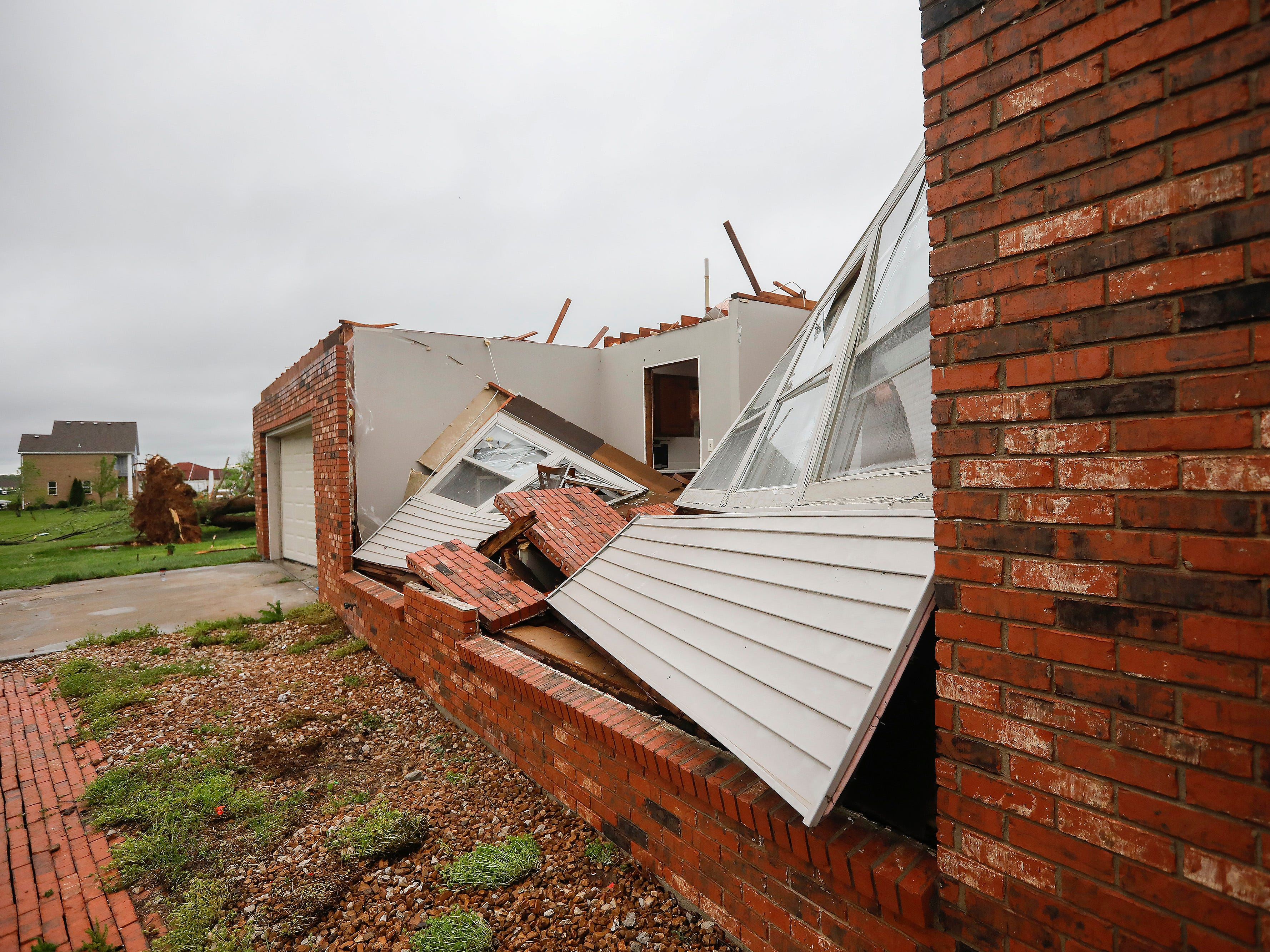 Denton Wilson's home was heavily damaged by a tornado that hit Ozark on Tuesday, April 30, 2019, but he and his family were unharmed.
