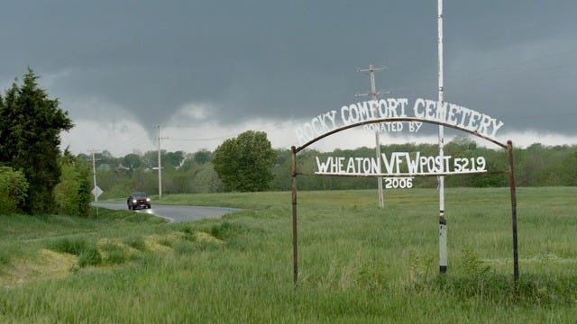 Storm chasers Jason Blum and Dave Toner were in Wheaton on Tuesday when tornadoes touched down.