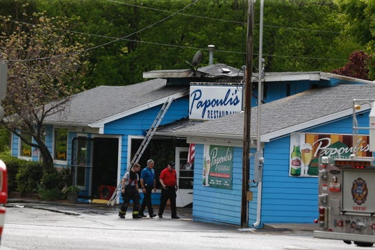 Crews from nearby Branson West responded to a fire Wednesday, May 1, 2019, at the popular Papouli's Restaurant.