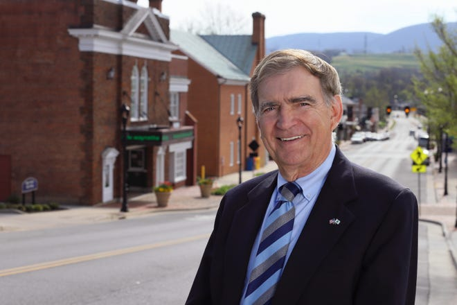 Sen. Emmett Hanger announced his reelection campaign Wednesday for the 24th Senate District seat.