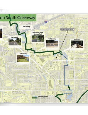 The Lake Jackson Greenway Project would put a mixed-use path from the north shore of the lake along North Monroe Street into Midtown using publicly-owned land and roadways.
