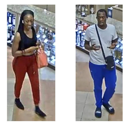 TPD is looking for these two suspects in high-end liquor thefts at ABC Fine Wine & Spirits.