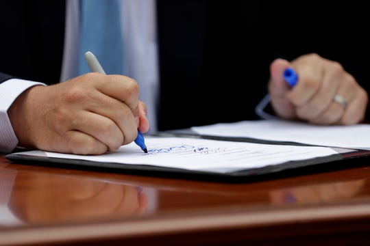 Gov. Ron DeSantis vetoed his first bill Friday.