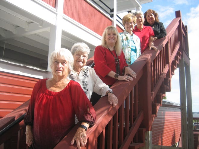 Stuart Heritage Museum volunteers and officers, from the bottom, Mary W. Jones, executive director; Betty Hardwick, manager; Suzanne Johns-Campbell, treasurer; Nancy King Crawford and Toinette Henry, board members; and Alice L. Luckhardt, correspondent secretary.