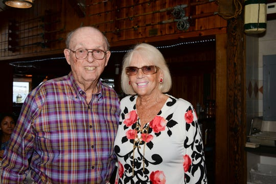 Long-time Hibiscus Children's Center supporter Charles McIntyre and Joyce Court attend the Martin County Donor Appreciation Luncheon in Jensen Beach.