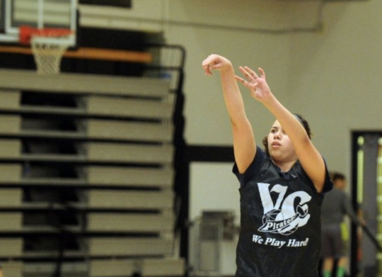Cynthia Hernandez was one of the top shooters in the country when she helped the Ventura College women's basketball team win the 2014 California Community College state championship.