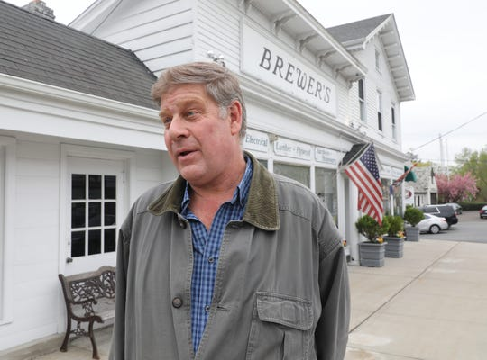 Longtime customer Nat Picco is pictured outside of Brewer's Hardware on Boston Post Road in Mamaroneck, May 1, 2019.