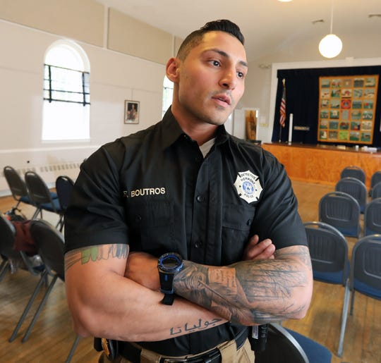 """Piermont Police Det. Peter Boutros talks about the """"Hope Not Handcuffs"""" program that trains police departments to help people seeking opioid addiction treatment May 1, 2019."""
