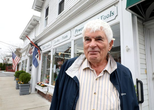William Riley from North Salem, is pictured outside of Brewer's Hardware on Boston Post Road in Mamaroneck, May 1, 2019.