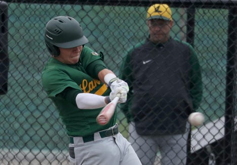 Lakeland's Leo Cummings bats against Panas during a varsity baseball game in Mohegan Lake May 1, 2019. Lakeland is the No. 1 seed in Section 1's Class A tournament.
