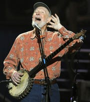 Pete Seeger, whose music and legacy will be celebrated Oct. 6 at the Nyack Center.