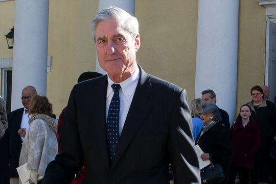 Special counsel Robert Mueller departs St. John's Episcopal Church, across from the White House in Washington, March 24, 2019.