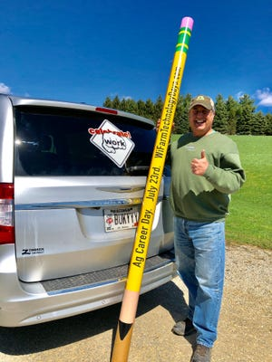 The 2019 Wisconsin Farm Technology Days committee helped introduce the 'Celebrate Work' minivan announcing the first-ever interactive Career Scavenger Hunt,Ag Career Day set for July 23 at the event in Jefferson County which is expected to draw over 1,000 students.