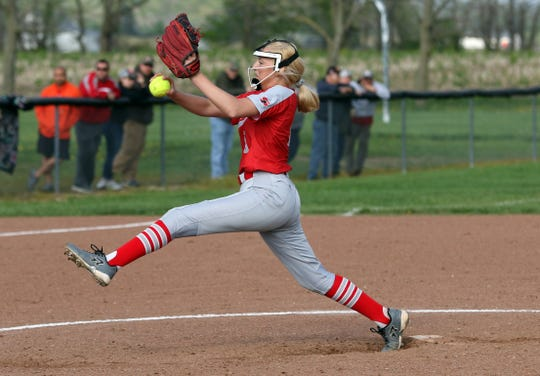 Sheridan's Sydney Campolo pitches against Tri-Valley last season. The senior pitcher highlighted an experienced Generals' squad primed for another long tournament run after reaching last season's Division II regional final.
