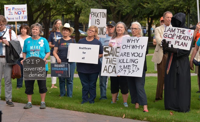 Supporters of the Affordable Care Act protested at a rally in Fort Worth, Texas, last September.