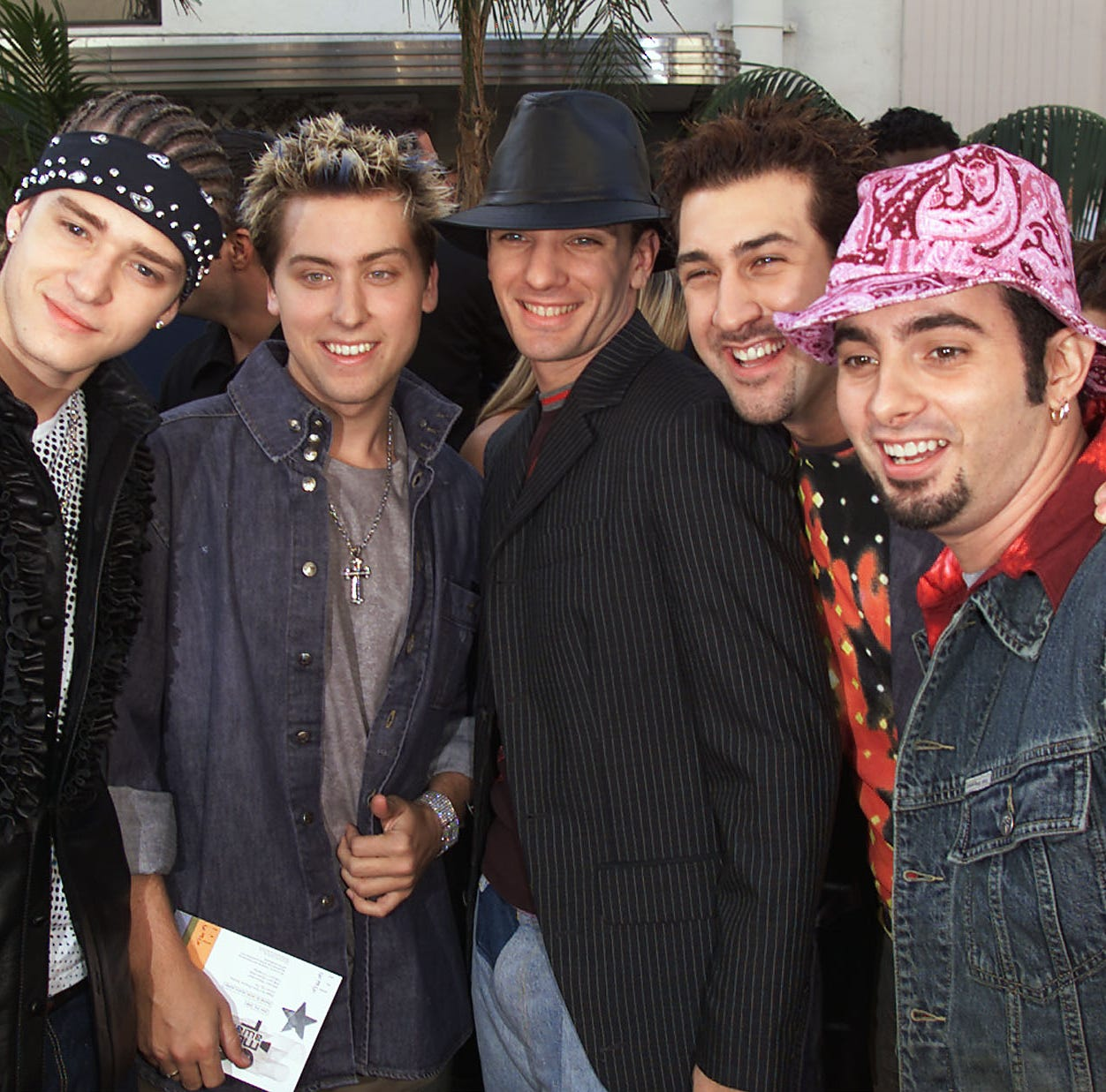 "*NSYNC in 2000, the year that ""It's Gonna be May"" was released."
