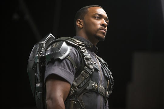 "Sam Wilson (Anthony Mackie), seen here  in ""Captain America: The Winter Soldier,"" is now the wielder of Cap's signature shield going forward."