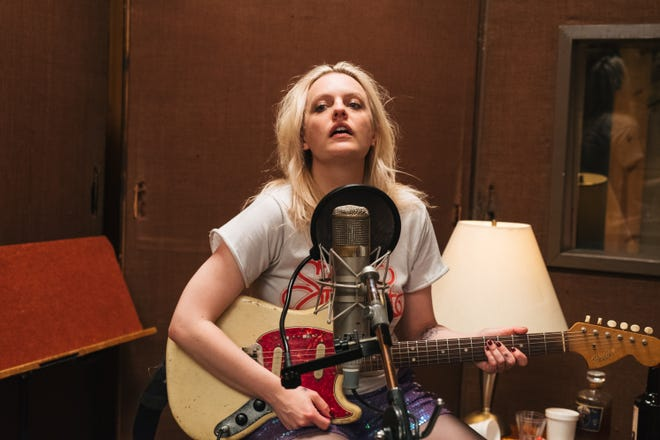 "Becky (Elisabeth Moss) is a fizzling punk rocker in the throes of an emotional breakdown in ""Her Smell."""