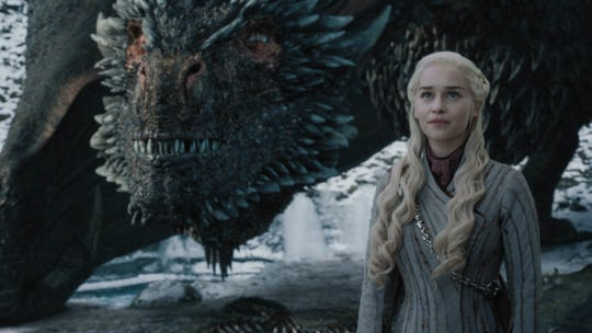 The Targaryen family, represented here by Daenerys (Emilia Clarke), and its dragons are featured in many 'Game of Thrones' licensed products.
