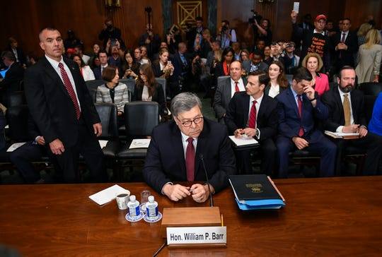 Attorney General William Barr arrives to testify before the House Judiciary Committee hearing about special counsel Robert Mueller's report and his handling of the investigation.