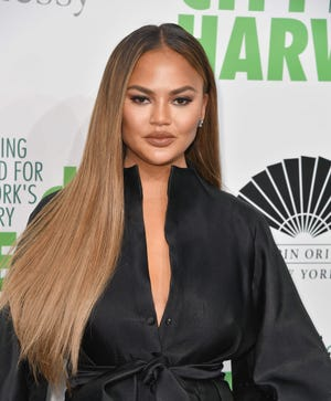 Chrissy Teigen attends City Harvest: The 2019 Gala on April 30, 2019 at Cipriani 42nd Street in New York City.