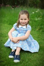 Princess Charlotte of Cambridge at her family's Norfolk home, released by Kensington Palace on May 1, 2019, to mark her 4th birthday on May 2.