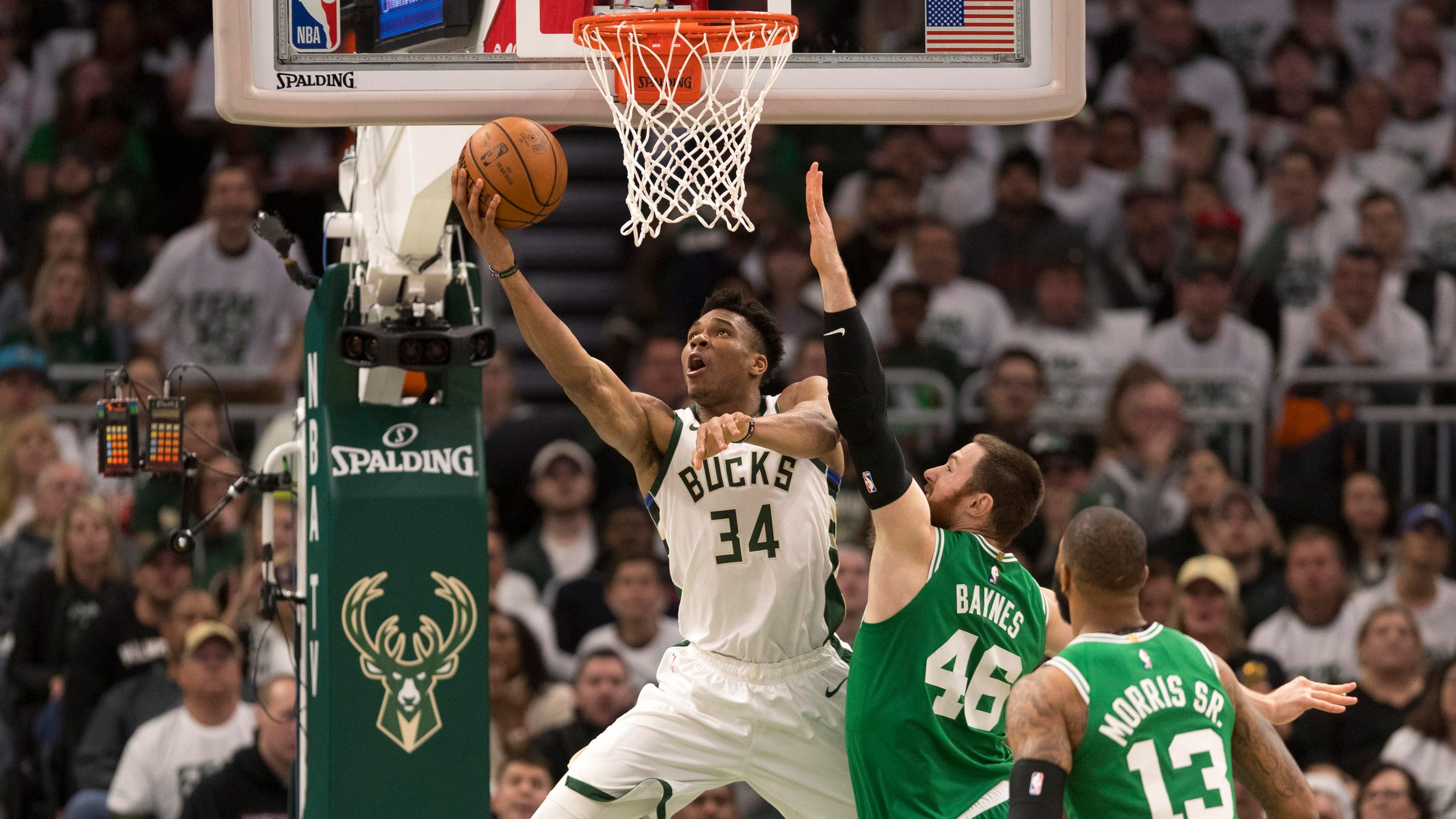 d2508f5f4be6 NBA playoffs  Bucks rout Celtics in Game 2 to tie series 1-1