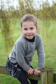 Princess Charlotte in new picture to mark her 4th birthday on May 2, 2019.