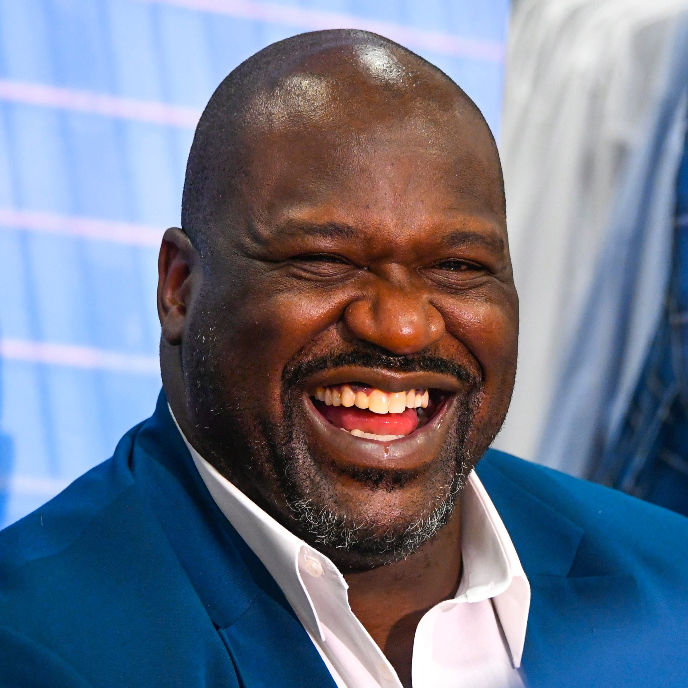 Shaquille O' Neal greets candidates at a casting call for Shaquille O' Neal's Big & Tall Model Search presented by JCPenney and Wilhelmina on Thursday April 11, 2019.