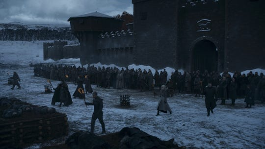 "Outside the gates of Winterfell on ""Game of Thrones."""