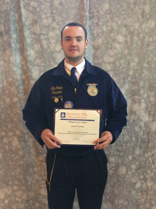 High school photo of Billy Gallien