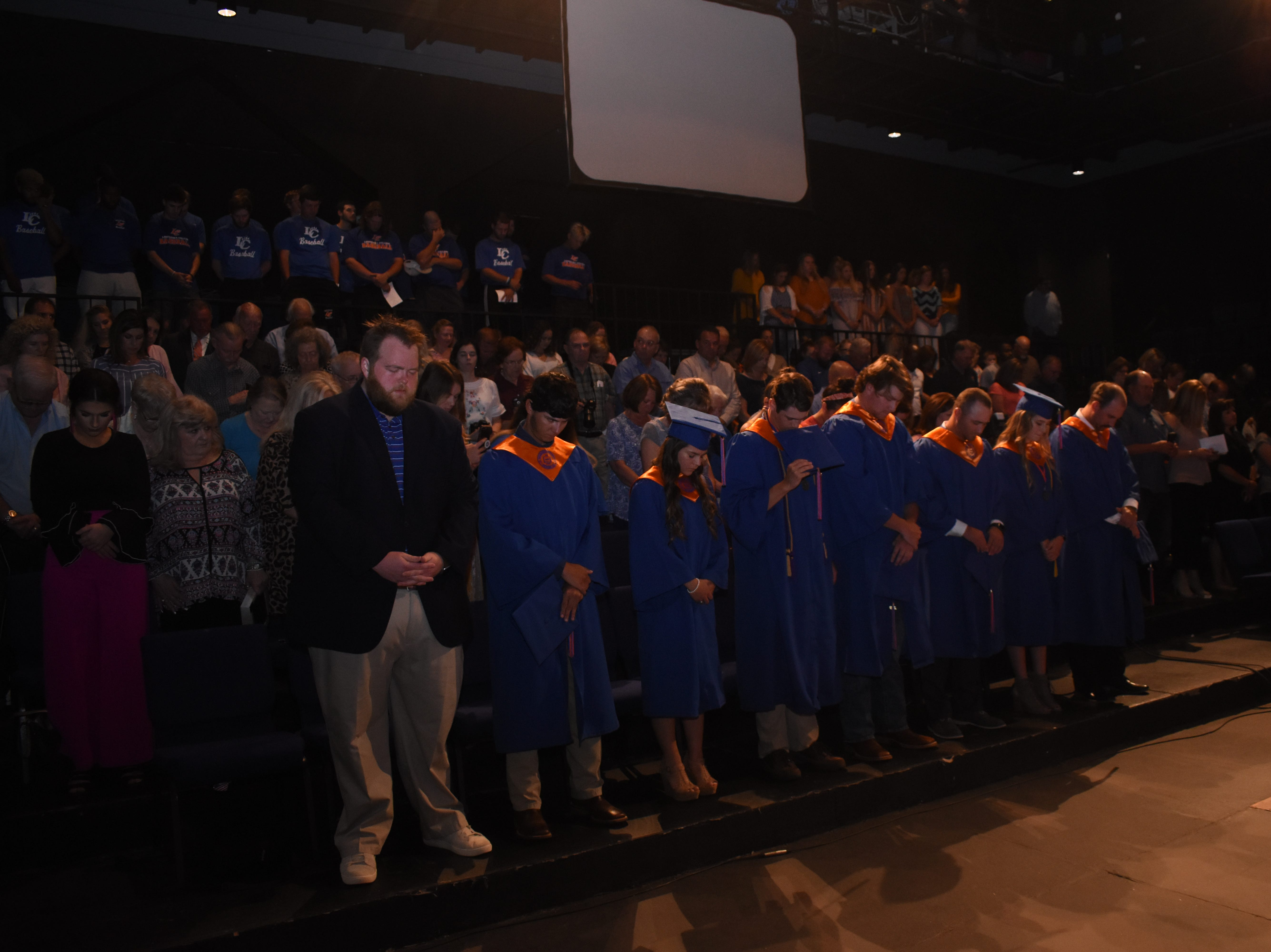 Louisiana College held an early commencement ceremony for thirteen baseball and softball players Wednesday, May 1, 2019 in the Martin Perfoming Arts Center on the LC campus. The players are headed to ASC tournaments over the weekend when LC plans to hold their 164th commencement ceremony at the Rapides Parish Coliseum. Graduates in Wednesday's ceremony are: Shelby Grace Bergeron; Hunter James Bower, Dunc Edward Cornfoot, Deauton Richard Delgado, Peyton Ranae Eschette, Sydney Renee Falcon, Dylan Andrew Keller, Kourtney Lyn LeBlanc, Titan Keith Marler, Brayden Leander Miles, Kalen Scott Parker, Alyssa Gail Ross and Phillip Wayne Vidrine. Johnny Martin, chairman of Martin Sustainable Resources at Roy O. Martin, will be the speaker at Saturday's commencement ceremony.