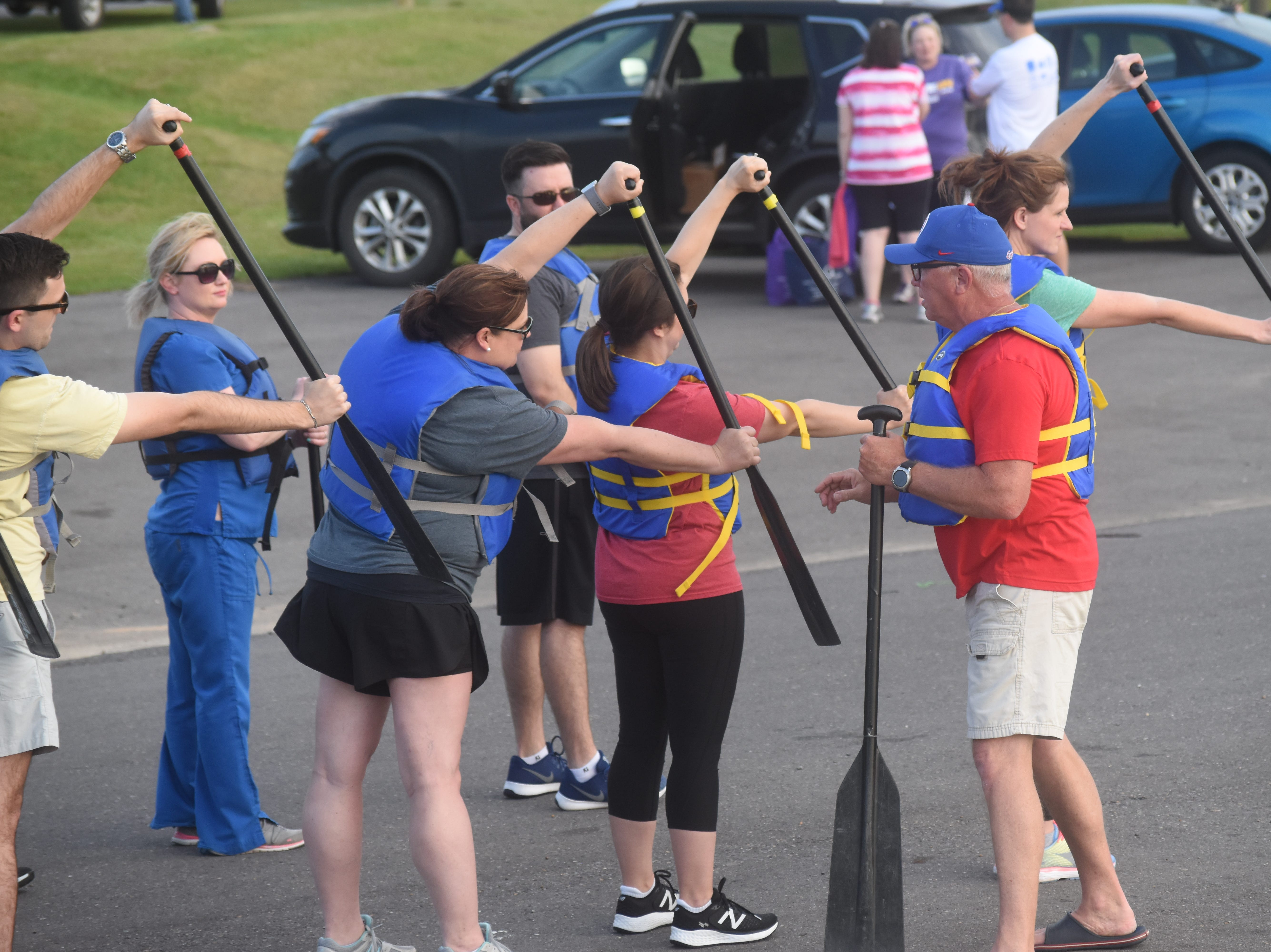 Dragon boat practices are being held this week at Lake Buhlow in Pineville in preparation for Saturday's 2019 Louisiana Dragon Boat Races. Nineteen local teams will be competing in the event that is a fundraiser for the Alexandria Museum of Art. This is the ninth year for the event. On Wednesday, eight teams practiced for Saturday's main event. The teams included Louisiana State University of Alexandria staff and faculty; Central Louisiana Technical & Community College; Boise Cascade; Cleco; Christus St. Frances Cabrini Hospital; Procter & Gamble Team 2; Rapides Regional Medical Center and Alexandria Country Day School. Emmanuel Baptist Church won the races in 2018. The event at Buhlow begins at 9 a.m. and is free for spectators.