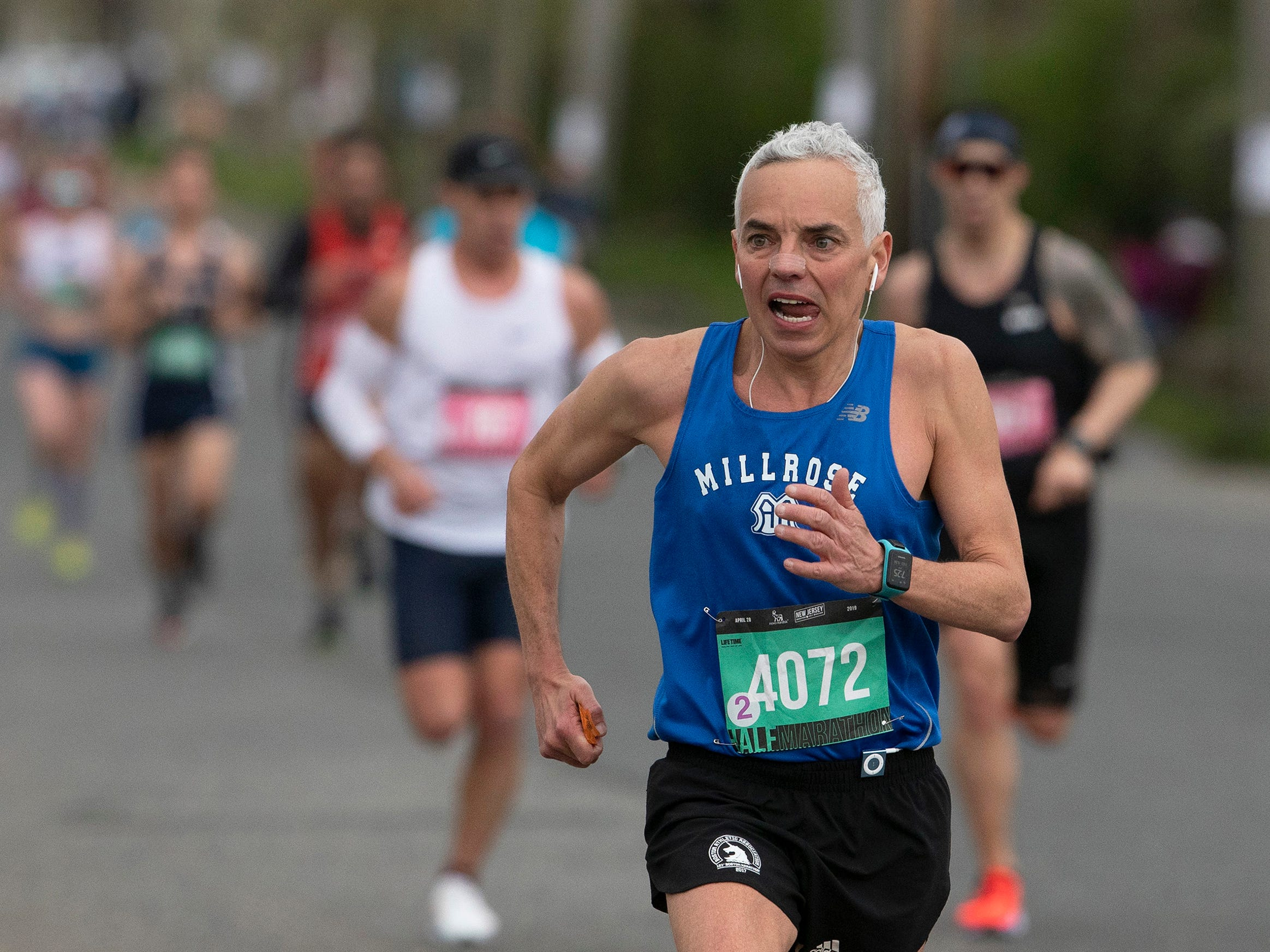 Liam Malanaphy competes in the half marathon. 2019 Novo Nordisk New Jersey Marathon and Half Marathon which started at Monmouth Park in Oceanport and ended at Ocean Promenade in Long Branch.