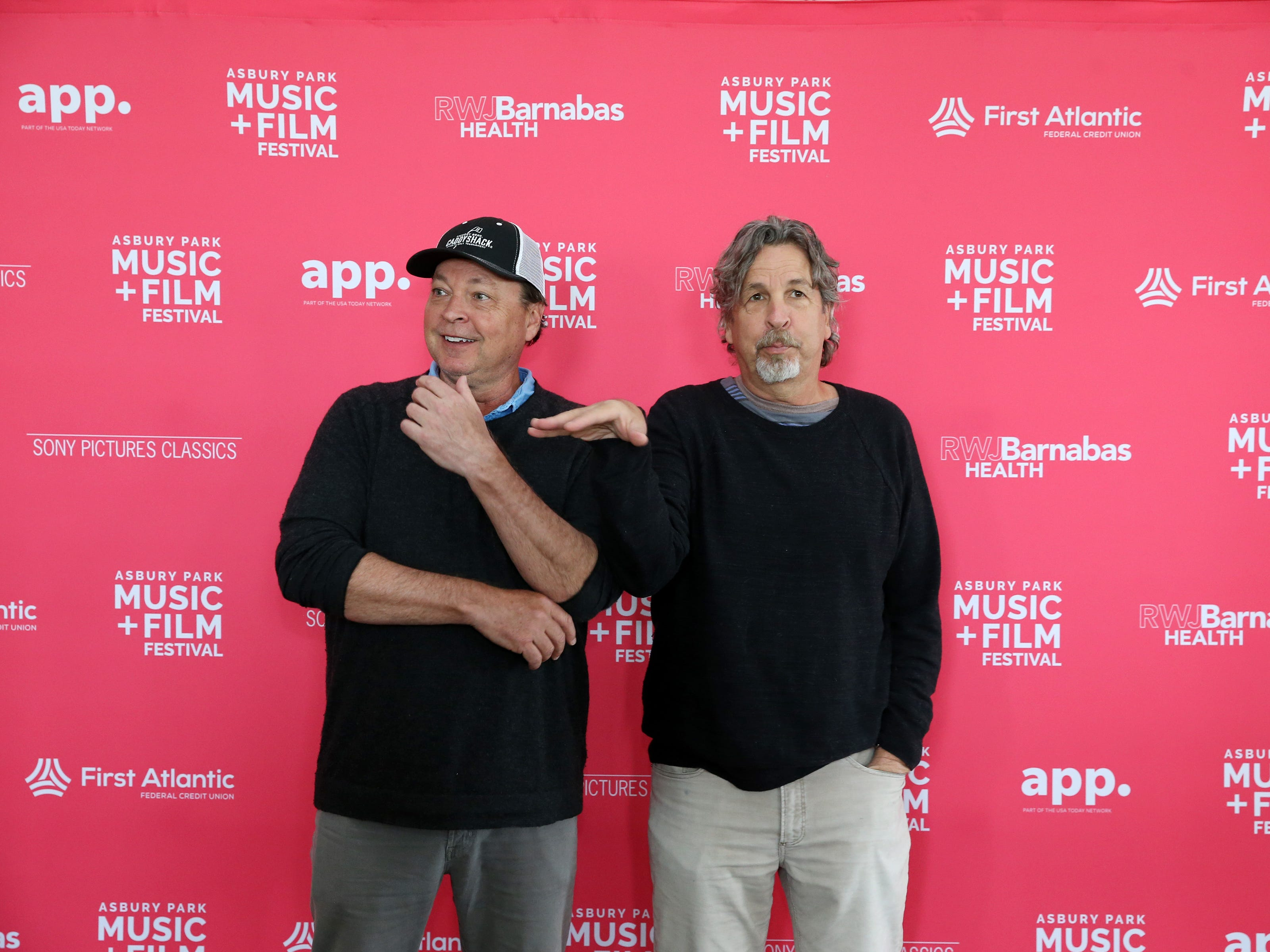 Bobby and Peter Farrelly greet the media and members of the APMFF advisory board at the Berkeley Oceanfront Hotel during the Asbury Park Music and Film Festival in Asbury Park, NJ Sunday, April 28, 2019.  #APMFF