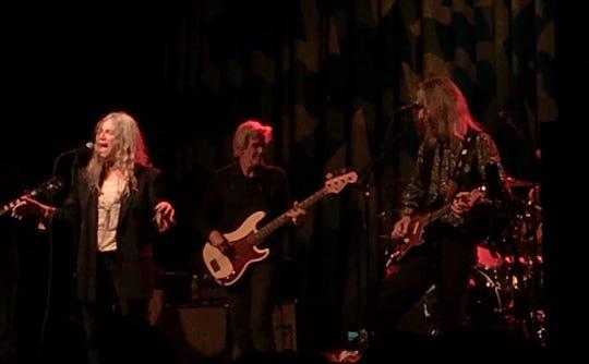 Patti Smith, Tony Shanahan and Lenny Kaye at Webster Hall on May 1 2019.
