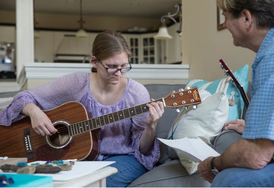 Haley Le Vine plays the guitar with her father Jesse helping out. The Le Vine sisters Amber and Haley both suffer from a rare disease, SSADH (Succinic Semialdehyde Dehydrogenase Deficiency), that gives them severe memory loss. Amber is also suffering from lyme disease. With only 400 cases of SSADH diagnosed worldwide, the family is searching for answers of how to treat the disease and hoping to raise funds for treatment.Avon-By-The-Sea, NJThursday, May 2, 2019