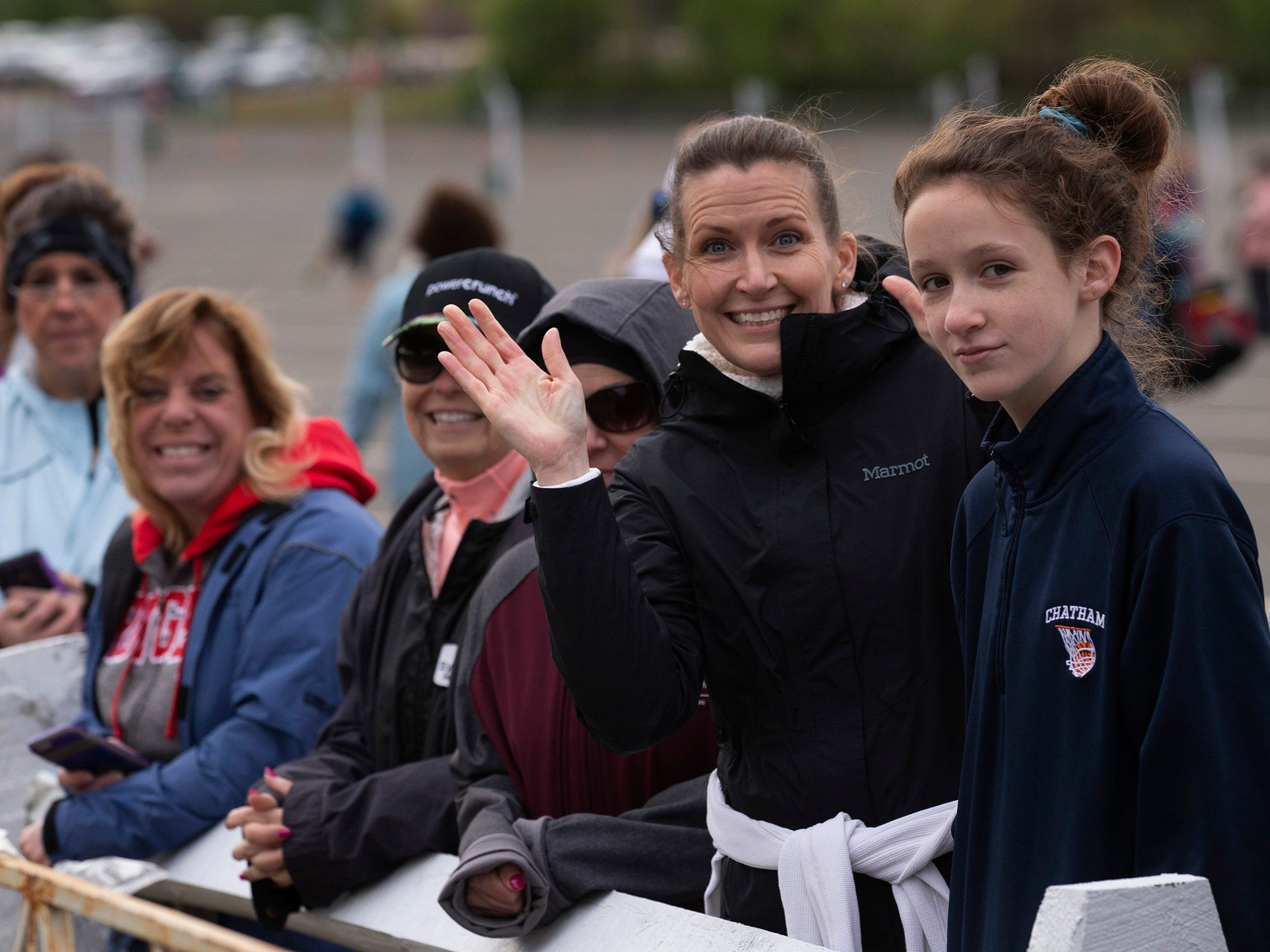 Family and friends wait for the start of the days races at Monmouth Park. 2019 Novo Nordisk New Jersey Marathon and Half Marathon which started at Monmouth Park in Oceanport and ended at Ocean Promenade in Long Branch.