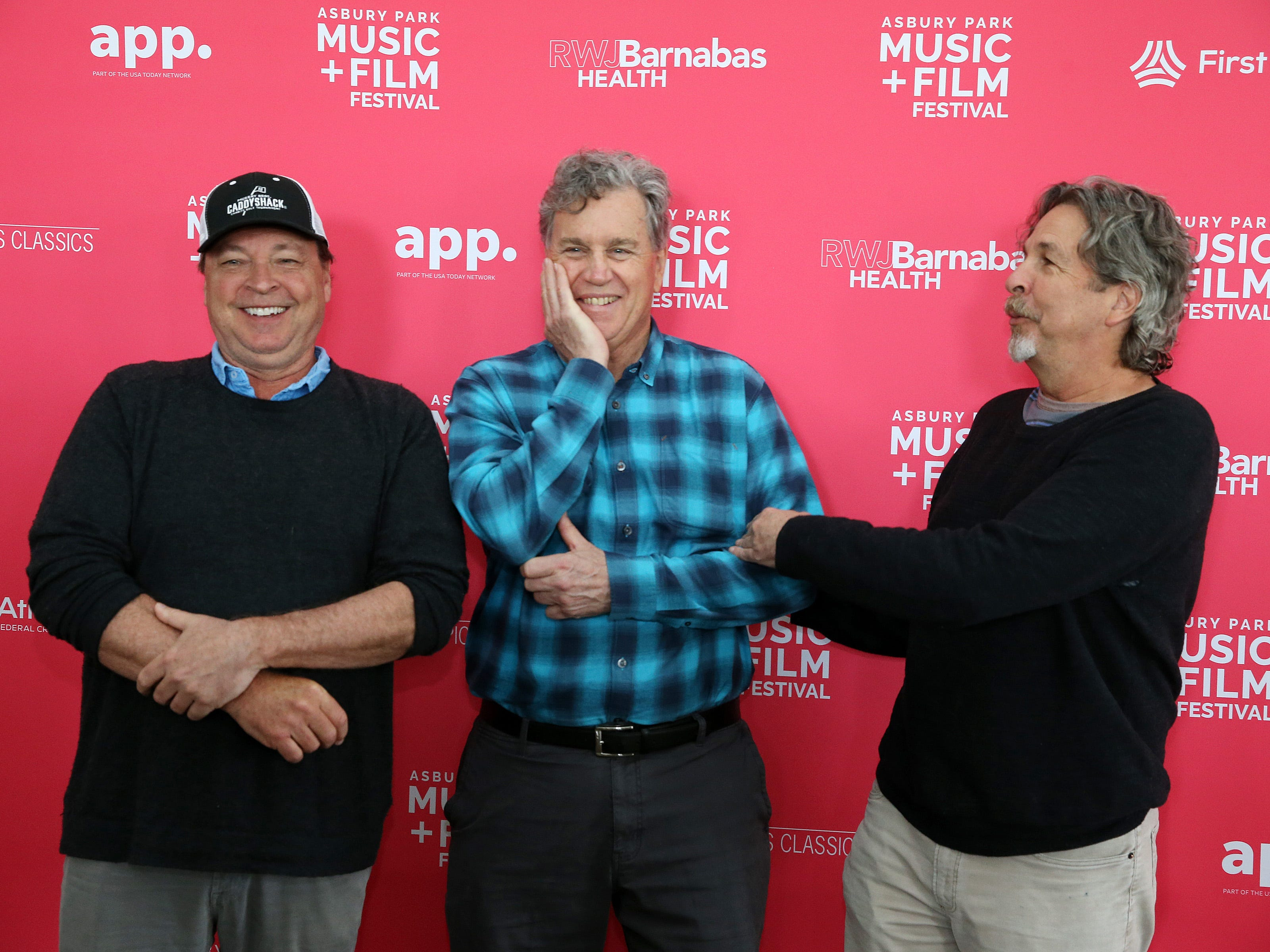 Bobby and Peter Farrelly pose with (center) Tom Bernard, co-chair of APMFF and co-president and co-founder of Sony Pictures Classics, as they greet the media and members of the APMFF advisory board at the Berkeley Oceanfront Hotel during the Asbury Park Music and Film Festival in Asbury Park, NJ Sunday, April 28, 2019.  #APMFF