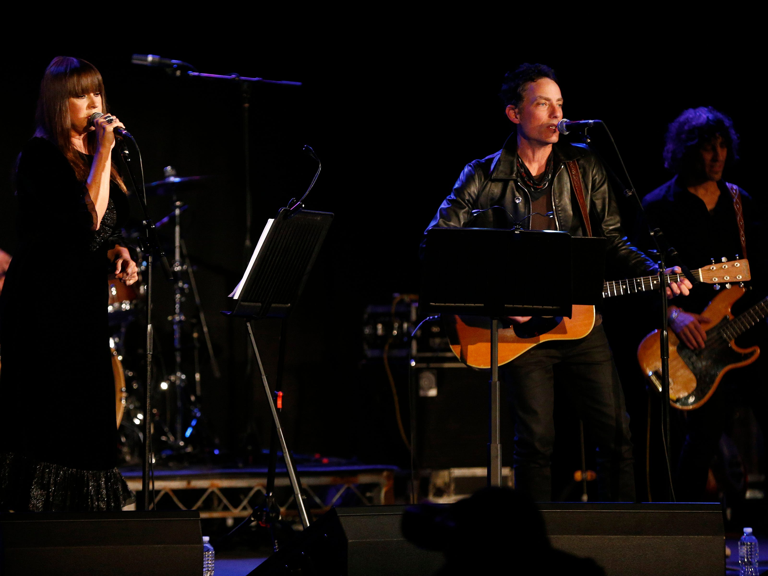 """Jakob Dylan performs with Cat Power at the Paramount Theatre Thursday night, April 25, 2019, after a screening of """"Echo in the Canyon"""" at the Asbury Park Music + Film Festival."""