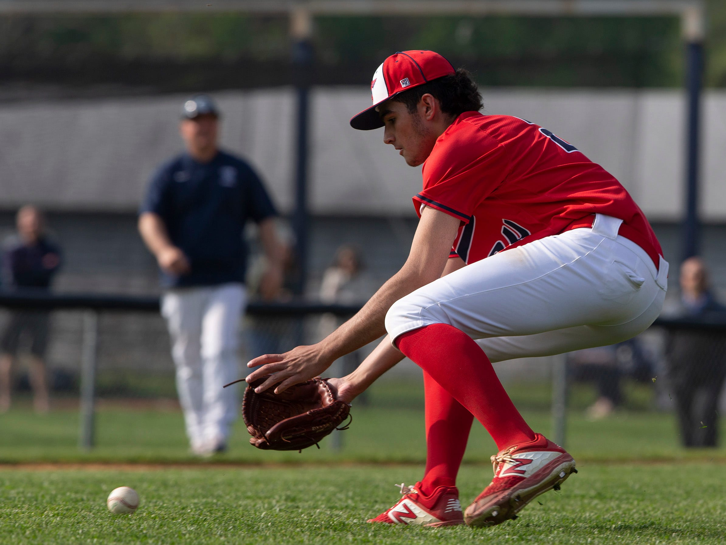 Manalapan baseball vs Christian Brothers Academy in Middletown NJ. On May 2, 2019.
