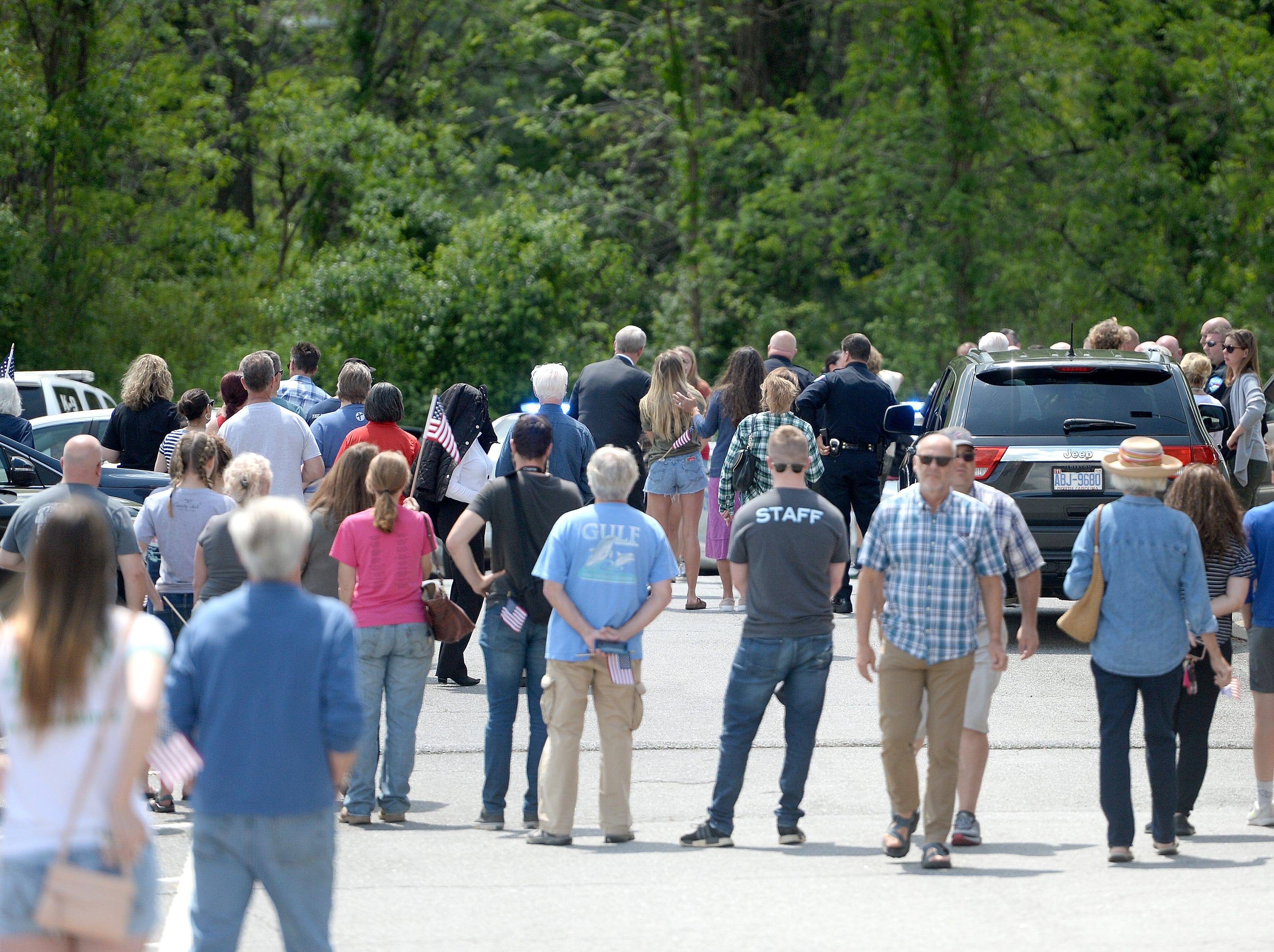 UNC Charlotte shooting victim Riley Howell's body was welcomed to Wells Funeral Home in Waynesville with a hero's welcome on May 2, 2019. Police say that actions of the 21-year-old during the shooting cost him his life but saved the lives of others.